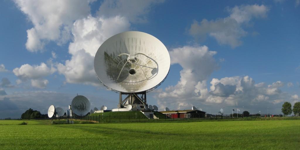 Grondstation van de Nationale SIGINT Organisatie (NSO) in Burum, Fryslân.