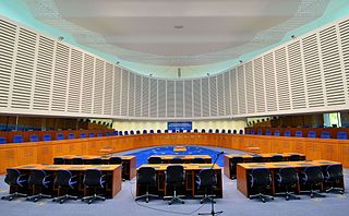 Courtroom in the European Court of Human Rights