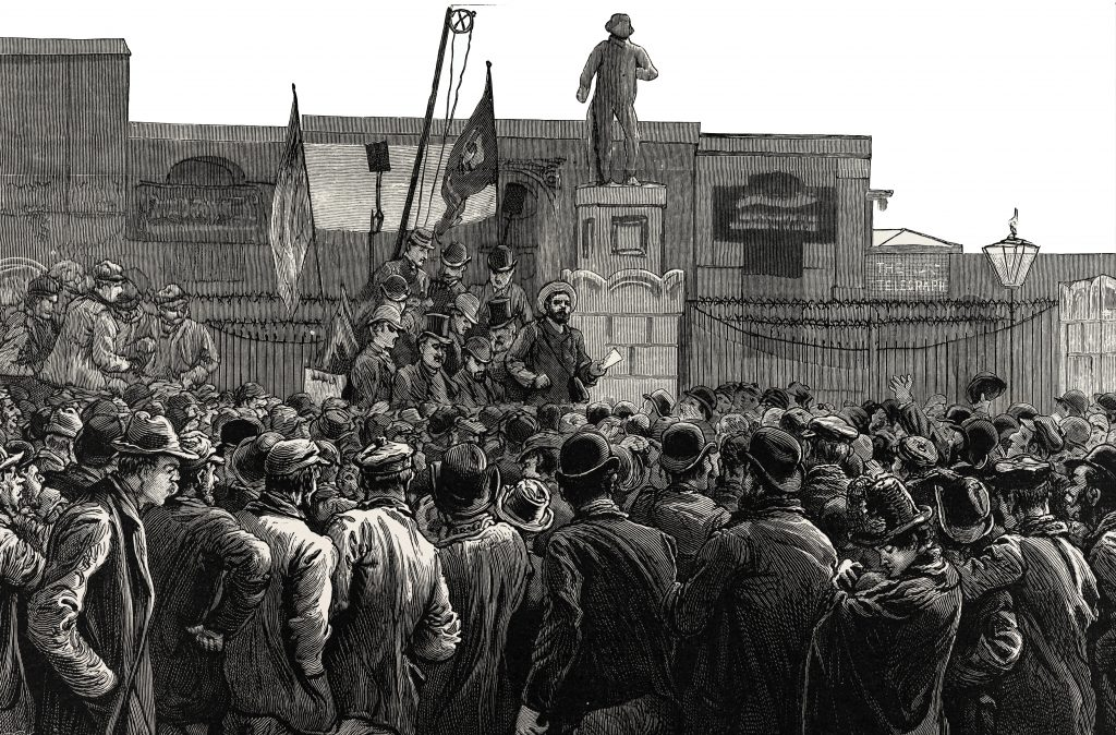 London dock workers' strike 1889