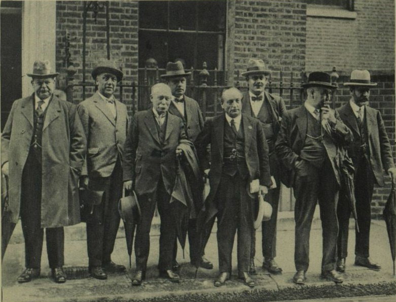 Special Committee of the General Council of the Trades Union Congress at Downing Street, ready to discuss the mining crisis with Baldwin