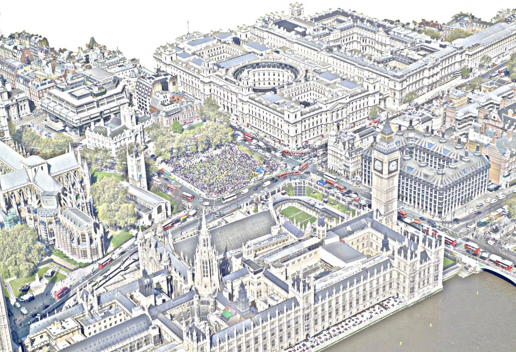 Westminster from above